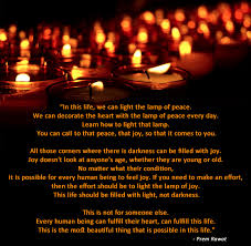 light a candle for someone in this life we can light the l of peace prem rawat