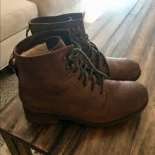 ugg shoes australia brown boots poshmark ugg shoes australia denhali fleece lined hiker boot poshmark