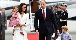 prince william duchess kate kids begin goodwill tour in style