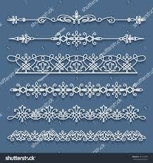 vector set lace border vignettes suitable stock vector 551474050