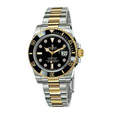 gold bracelet mens watches images Rolex submariner black dial stainless steel and 18k yellow gold jpg
