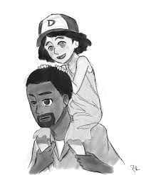 lee and clementine by penroserunner on deviantart