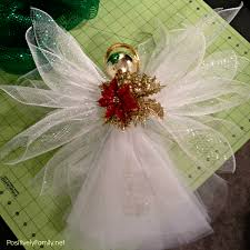 Christmas Angel Decorations Pinterest by Deco Mesh Angel Tree Topper Assembled Christmas Decorations