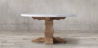 restoration hardware marble table salvaged wood marble trestle collection white marble rh