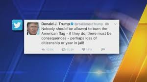 Illegal To Burn American Flag Trump Tweets About Making Flag Burning Illegal Again Seattle