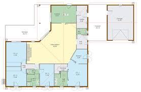 plan de maison en v plain pied 4 chambres grande maison de plain pied architecture