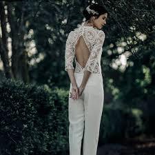 Wedding Dress Jumpsuit Rock An Effortless Parisian Style Wedding Day Look Bridalguide