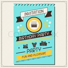 invitation card for birthday in retro style stock vector