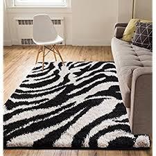 Zebra Area Rugs Ottomanson Animal Print Zebra Design High Pile Soft