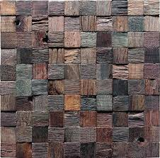rustic mosaic tiles wall panel design wooden tiles for wall