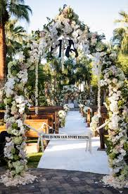 flower arch rustic vintage outdoor ceremony tent reception in palm springs