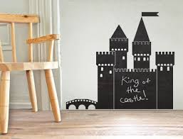 castle chalkboard your decal shop nz designer wall art decals castle chalkboard