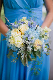 blue wedding flowers loudoun county farm wedding ceremony howard united with