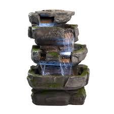 amazon com wilson rock fountain stunning outdoor water feature