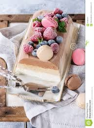 three layers ice cream cake stock photo image 91800707