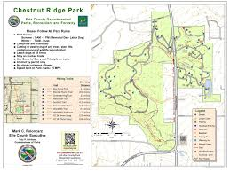 Pennsylvania State Parks Map by Chestnut Ridge Erie County Parks Recreation And Forestry
