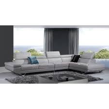 canapé d angle en cuir gris canapé d angle en cuir véritable siena pop design fr
