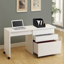 Louis Philippe Open Bookcase Amelia White Desk With Storage Grey U0026 Black Mesh Office Chair