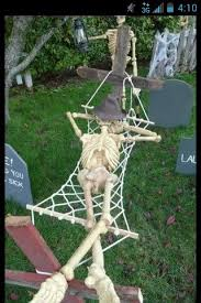 Skeleton Halloween Yard Decoration by 64 Best Yard Decorations Images On Pinterest Christmas Ideas