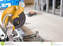 Site Table by Table Saw At Construction Site Stock Photo Image 45534704