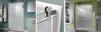 sliding glass door installation contemporary style sliding shower door installation