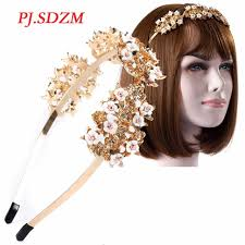 metal headbands pj sdzm headwear delicated baroque princess polymer clay hairbands