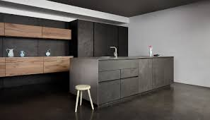 cuisine eggersmann contemporary kitchen concrete oak wood veneer vintage