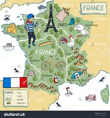 Marseilles France Map by Cartoon Map France Stock Vector 539700643 Shutterstock