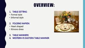 table setting western style western table manner