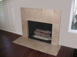 travertine tile face fireplace and hearth decorative gas fireplace logs