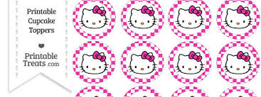 hello cupcake toppers free hot pink checker pattern hello cupcake toppers