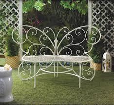 Metal Garden Chair Butterfly Garden Metal Bench
