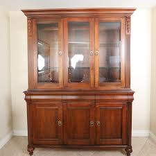 ethan allen china cabinet vintage ethan allen lighted china cabinet ebth