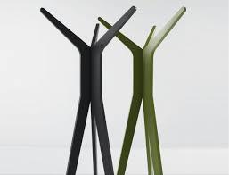 classy tree alike metal standing coat rack along with black