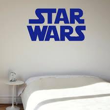 online get cheap large wall murals vinyl aliexpress com alibaba large star wars starwars logo childrens bedroom wall mural sticker art self adhesive pvc vinyl transfer