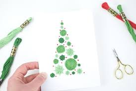 embroidered christmas make an embroidered tree christmas card