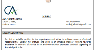 resume format free download in india sle chartered accountant resume india