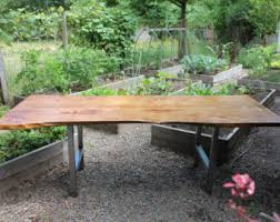 live edge outdoor table live edge table etsy