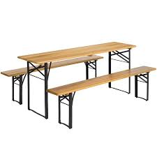 Wooden Folding Picnic Table Best Choice Products Portable 3 Folding Picnic Table Set W