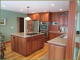 cherry kitchen cabinets with oak floors kitchen decoration
