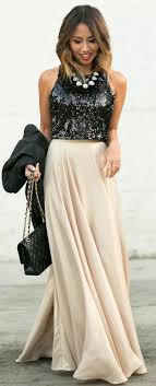 new year s tops lace locks back sequin top gold maxi skirt fall style