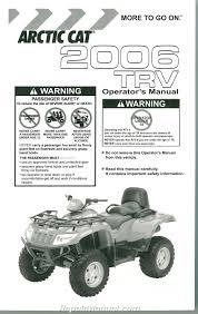 2006 arctic cat 400 500 trv owners manual 2257 300 ebay