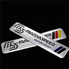 mazda brand best 3d aluminum car stickers for mazda 5 m3 m6 323 626 mazda 3