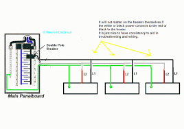 wiring diagram electric baseboard heater thermostat wiring