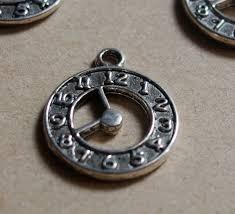 personalized charms bulk clock pendants in bulk silver alloy metal pendants 22 18mm diy