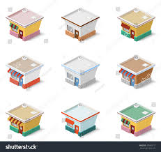 types of houses vector illustration set different types houses stock vector