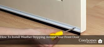 Weather Stripping For Exterior Doors How To Install Weather Stripping Around Your Front Door