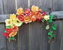 Grapevine Floral Design Home Decor The Half Wreath Etsy
