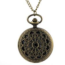 vintage necklace watch pendant images Cindiry retro vintage bronze spider web hollow quartz necklace jpg