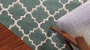 in house designed trellis duck egg rug youtube
